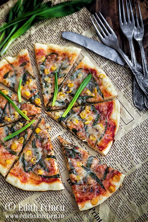 pizza la tigaie cu leurda SunFood 1