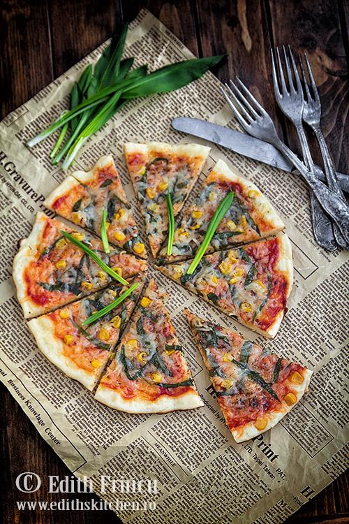 pizza la tigaie cu leurda SunFood