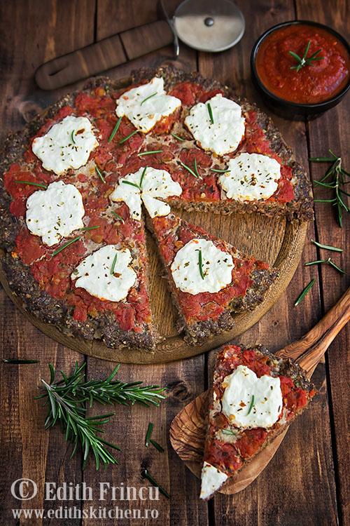 pizza cu blat de carne Sun Food
